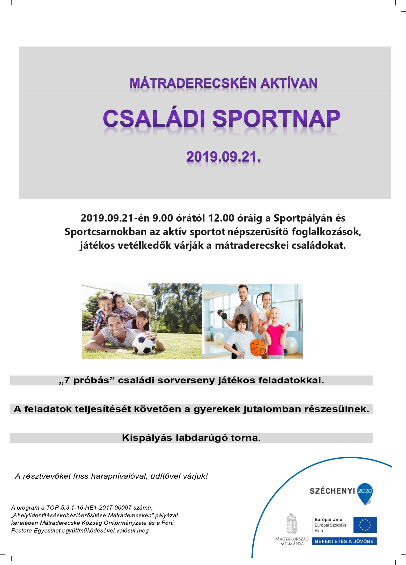 Családi Sportnap 2019.09.21.