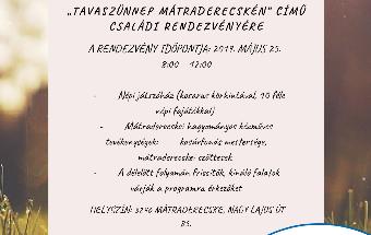 Tavaszünnep Mátraderecskén